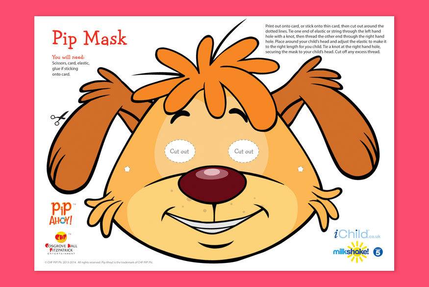 Activity of the month 3-5 years: Pip Ahoy! Mask image
