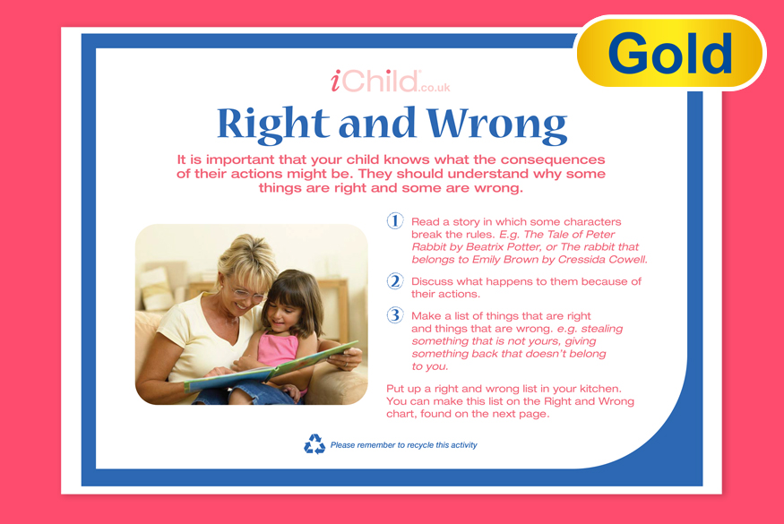 Activity of the Month: 1-3 Years Right & Wrong  image