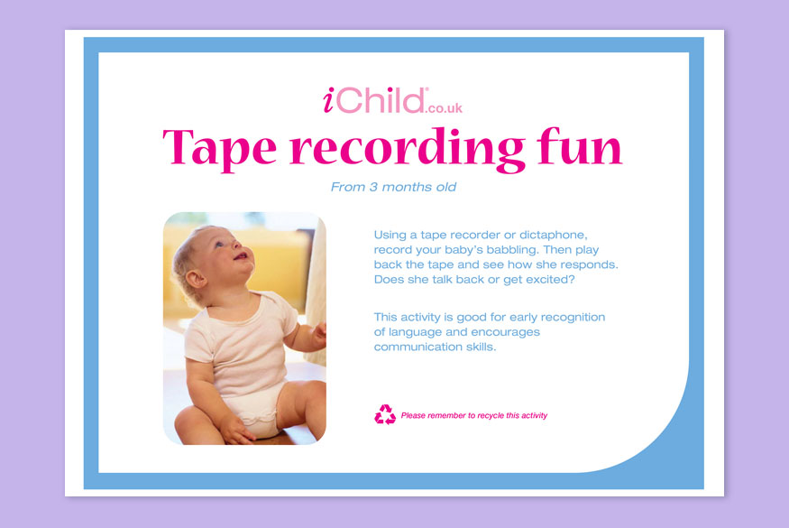 Activity of Month: Tape Recording: 0-12 Months  image