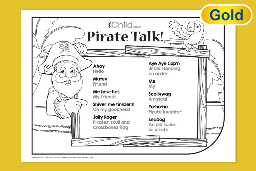 Activity of month 7-11yrs Pirate Talk image