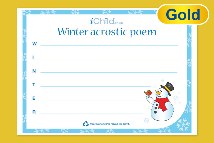 Activity of the Month: Winter Acrostic Poem image