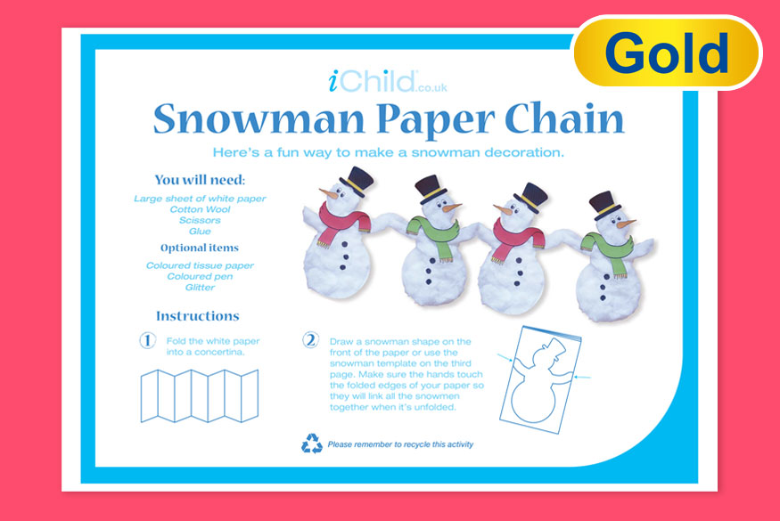 Activity of the Month: Snowman Paper Chain image