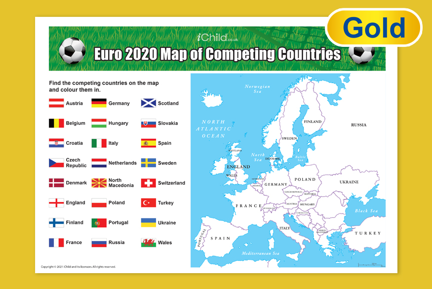 Activity of the Month 7-11 years: Euro 2020 Flags image